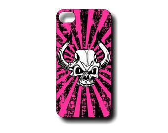Grunge Skull Case iphone4 iphone4s iphone5 iphone5s Phone Case -  Customizable