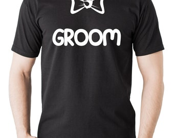 Gift For Groom T-Shirt Bow Tie Wedding Bachelor Party Tee Shirt Tshirt