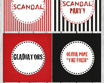 Scandal Theme Cupcake Toppers