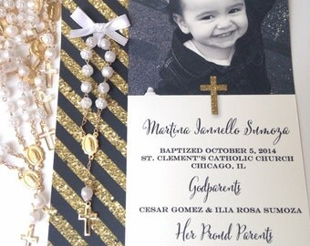 Baptism Favor Cards~ Multiple Colors Available