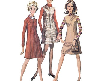 Simplicity 7758 Sewing Pattern Juniors & Misses Dress or Jumper in 2 Lengths   Size 10