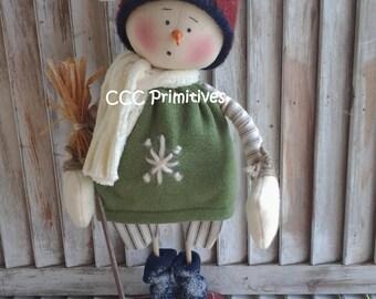 Primitive Pattern Primitive Christmas Snowman Jake EPattern