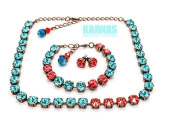 ISLAND GETAWAY 8mm Crystal Chaton Bracelet Made With Swarovski Elements *Pick Your Finish *Karnas Design Studio *Free Shipping*