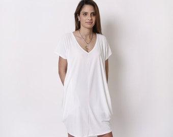 White Tunic Dress Photo Album - Klarosa