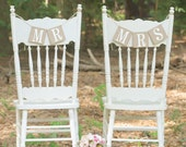 Mr. and Mrs.Banner-Chair Signs-Rustic Wedding-Wedding Decoration-Wedding Banner-Wedding Sign-Bridal Shower-Wedding Photo Prop