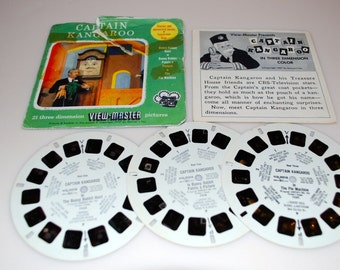Captain Kangaroo View-Master Sawyer's Story Booklet Stories & Adventure Series Television Star 1957