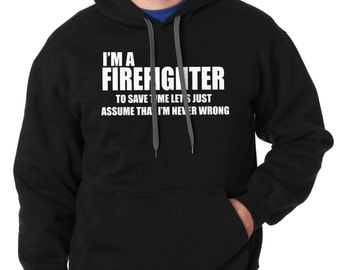 I Am A Firefighter Hoodie FDNY Gift For Firefighter Hooded Sweatshirt Sweater