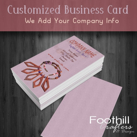 premade business card design handcrafted jewelry beads