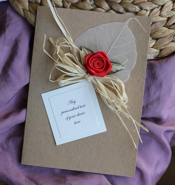 Personalised Handmade 1st First One Year Wedding Anniversary Gift ...