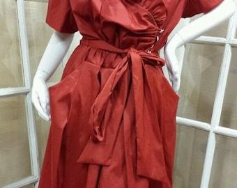 Labor Summer Clearance Dress Sale // Full Skirt with Rhinestone Trim /Size 22w
