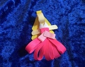 Disney Sleeping Beauty (princess aurora) hair clip ribbon sculpture hairbow hair bow