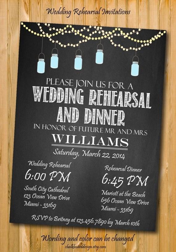 custom rehearsal dinner invitations including wedding rehearsal dinner ...
