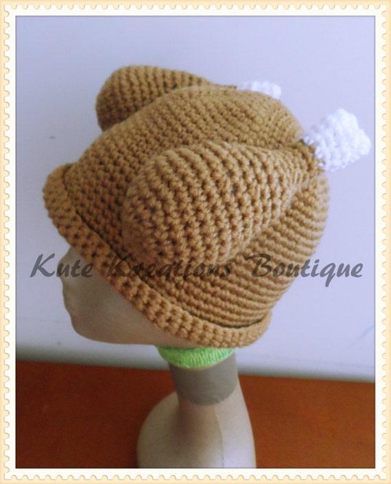 Crochet Turkey Dinner Hat!  Turkey Hat. Baby/Adult Size. Crochet Turkey hat!