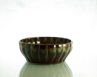 Small beautiful glazed bowl, stamped AKK.