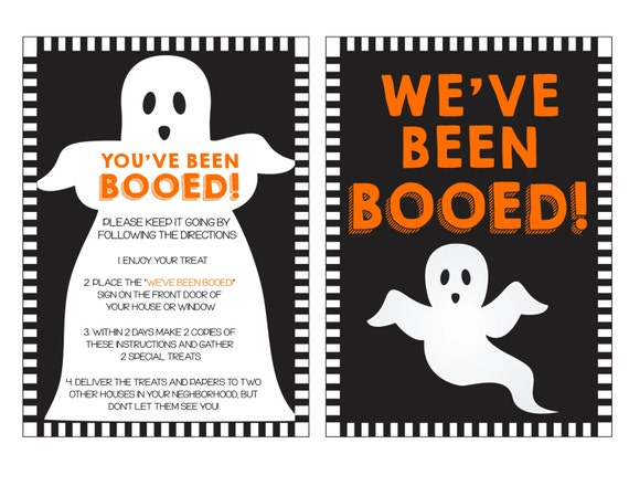 Clever image throughout you've been booed printable pdf
