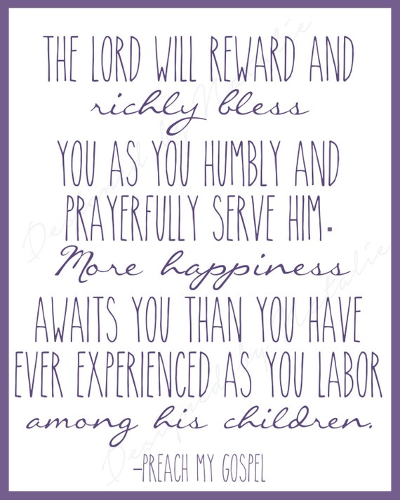 Lds Missionary Quotes Simple Missionary Quote Preach My Gospel Lord Will Richly Bless More