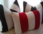 Red & White Stripe Pillow