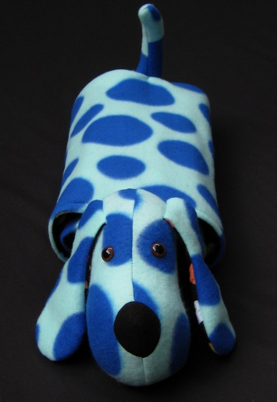Snuggle Puppy blanket / pillow / stuffed animal in light blue