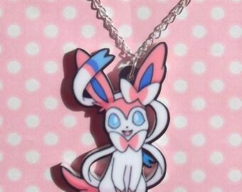 Super Cute Sylveon Eeveelution pendant necklace
