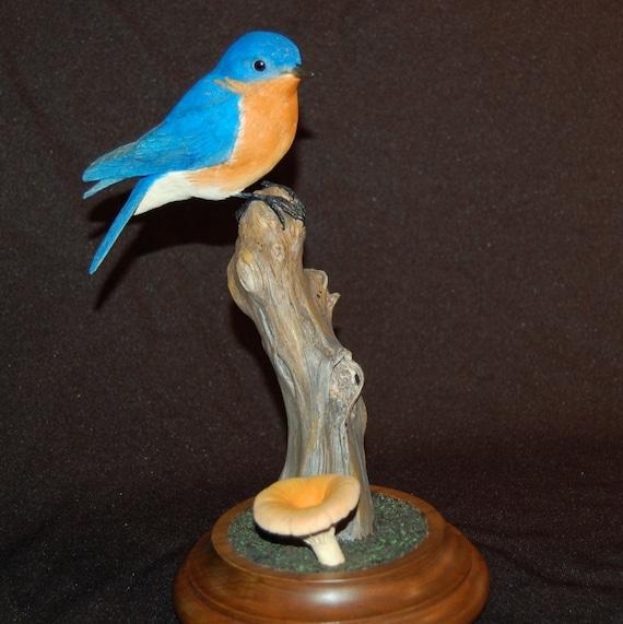 Bluebird carving nature bird wood