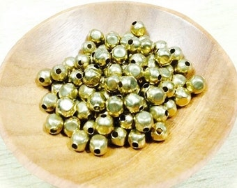 100 pcs. 5mm. Brass Spacer Beads, Circle Faceted (M 006)