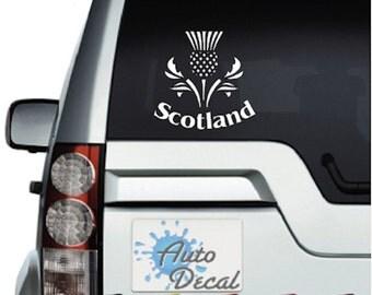 Scottish Thistle (Scotland) Vinyl Car Window, Bumper Decal / Sticker / Graphic