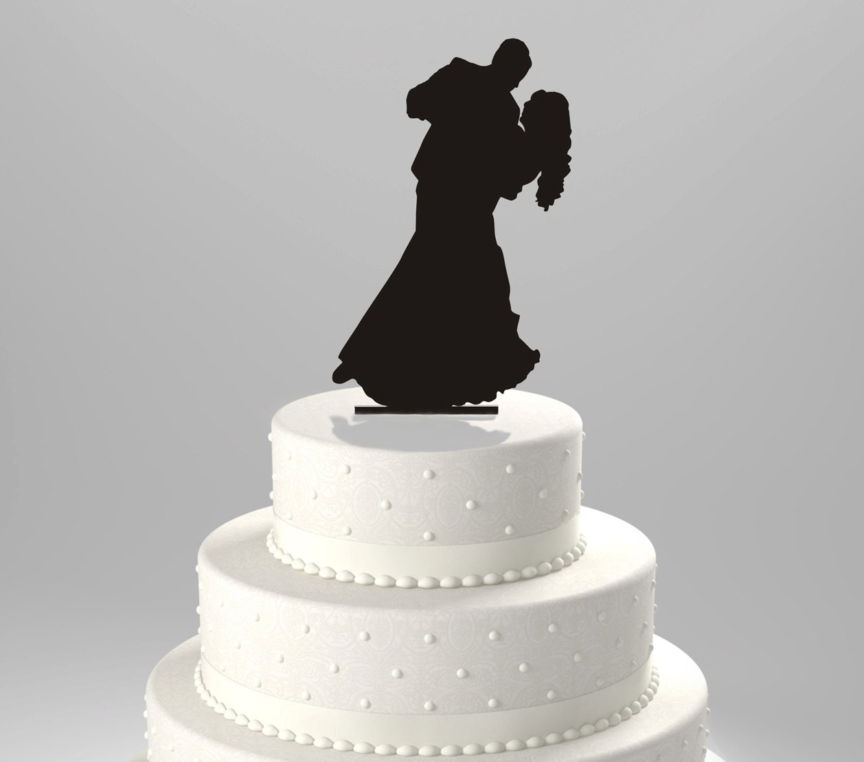 Wedding Cake Topper Silhouette Groom Dipping Bride Acrylic