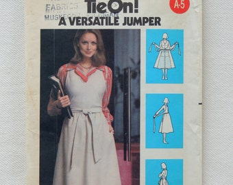 Butterick Pattern 5520 - Misses' Tie-On Jumper - Size 12 - UNCUT