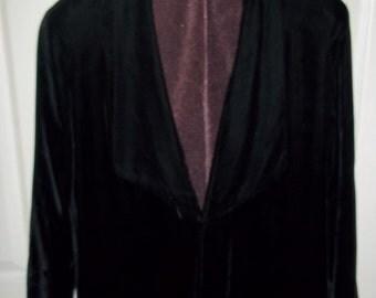 Black Velvet 1920s Opera Coat