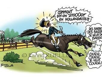 "Postcard ""compet horse '"""