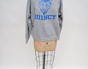 vintage sweatshirt QUINCY DEVILS oversized boyfriend fit 1980s
