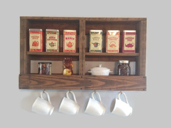 Wooden Coffee Mug Rack