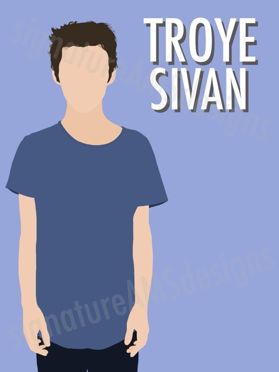 Minimalist Digital Artwork of YOUTUBER - Troye Sivan. ( 11.7x16.5 inches / A3 )