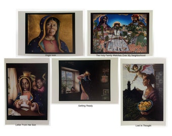 """Mexican Art (5"""" x 7"""") Blank Note Cards."""