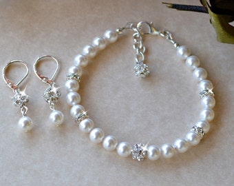 White Pearl and Crystal Set