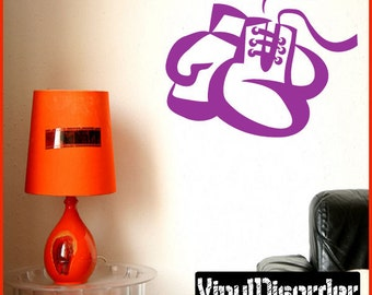 Boxing Gloves Vinyl Wall Decal or Car Sticker  - BoxingMC006ET