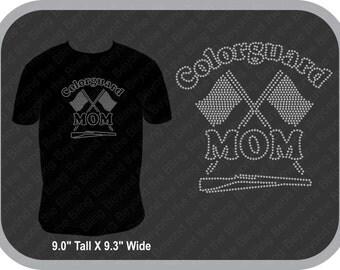 Bling Colorguard Mom shirt rhinestone colorguard mom shirt color guard mom bling shirt color guard mom rhinestone bling shirt colorguard mom