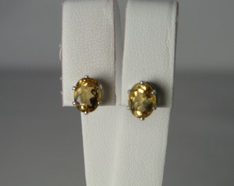 Citrine Earrings in Sterling Silver