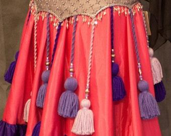 ATS Tribal Lavender, Purple, Pink Tassel Belt