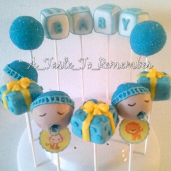 Its A BOY Baby Shower Cake Pops 1 Dozen By ATasteToRemember
