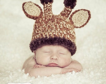 Giraffe hat; baby hat; zoo animal