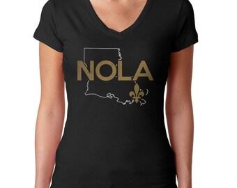 New Orleans Shirt - NOLA Shirt - Louisiana Shirt - Saints - New Orleans T Shirt - Louisiana T Shirt - (See SIZING CHART in Item Details)
