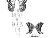 I do believe in Fairies,  Wickedly Lovely Skin Art Temporary Tattoo  (includes three tattoos)