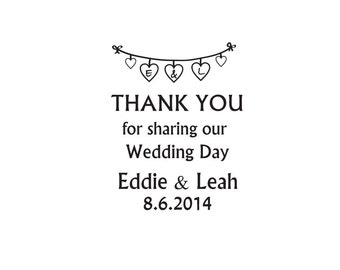 Wedding Thank you stamp custom Wedding stamp monogram stamps