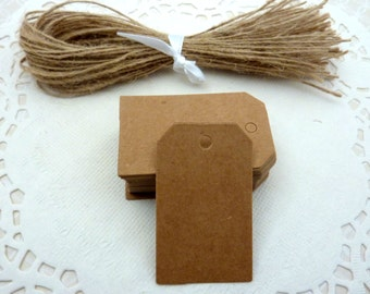 25 Brown Kraft Paper Gift Tags Price Tag Crafts 5 x 3cm