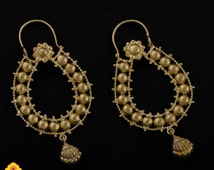 Handmade Gold Plated Silver Indian Earrings 113JE19