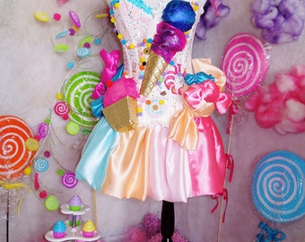 Katy Perry California Gurls Inspired Candy Dress Costume Outfit Cosplay Unique Youth Adult Any Size Handmade