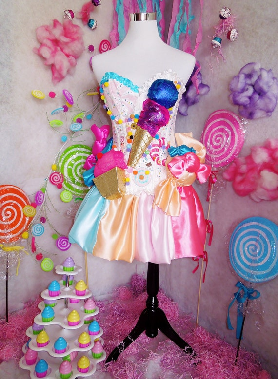 Katy Perry California Gurls Inspired Candy Dress Costume