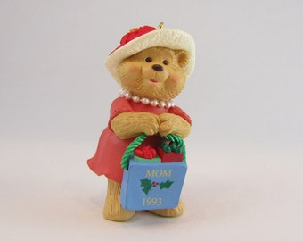 Hallmark Ornament Mom Christmas Bear 1993 with Box