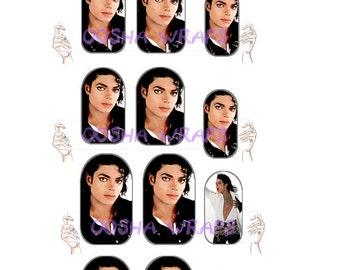 Michael Jackson 'Bad' Nail Wraps